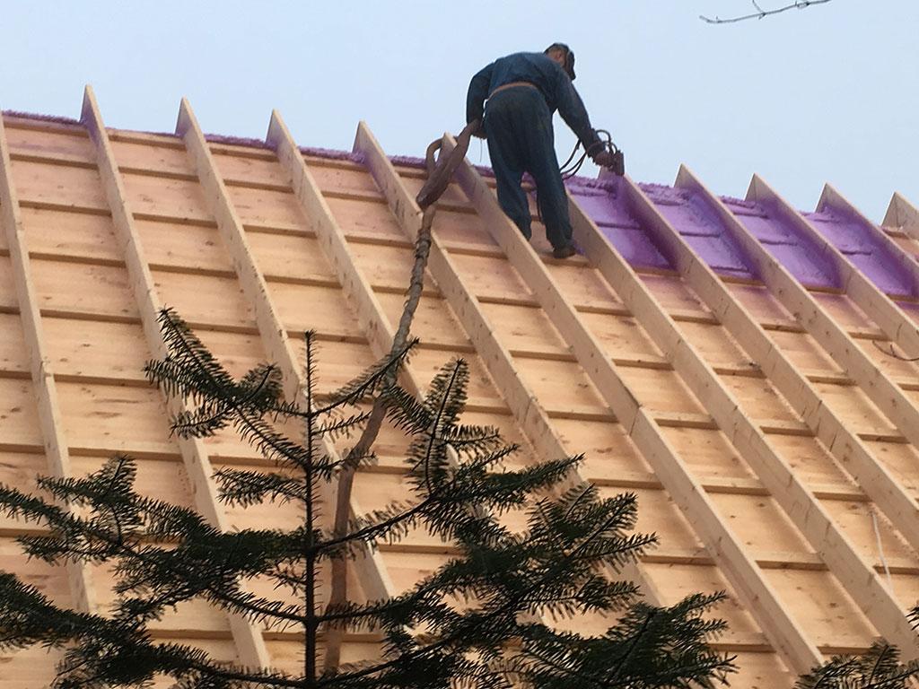 Isolation d'une haute toiture