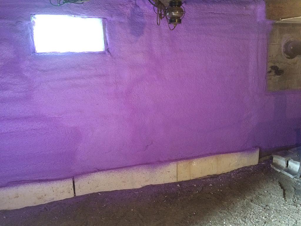 Isolation de mur de sous-sol